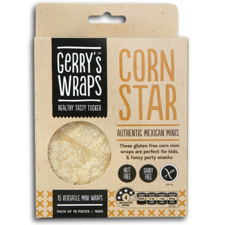 Gerry's Wraps Corn Star Mini Tortilla