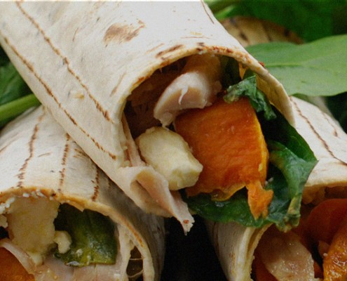 Kumara-Chicken-&-Spinach-Lunch-Wraps