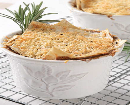 Little-terrine-dishes-filled-with-lamb-mince-mixture-topped-with-Mountain-Bread-pastry-rosemary-and-parmesan