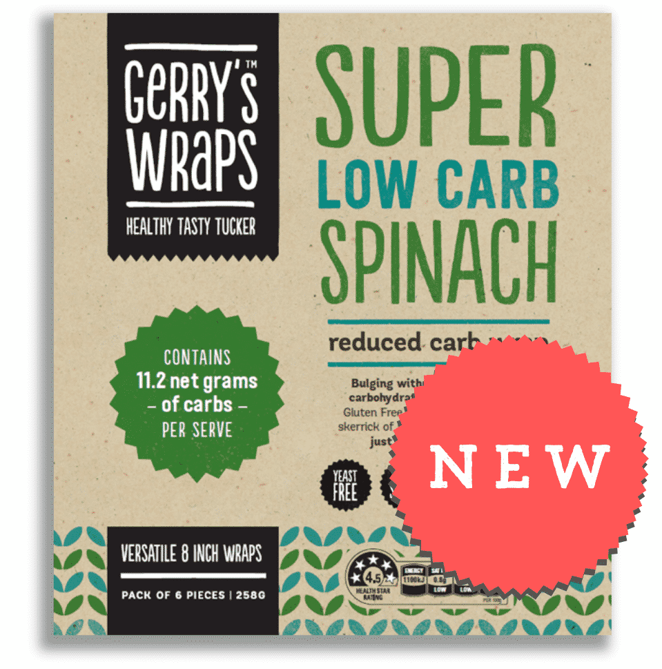 Super Low Carb Spinach Wrap